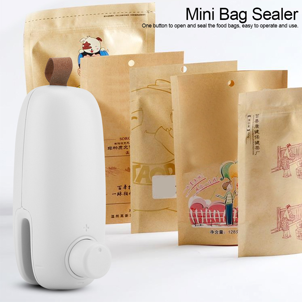 CHICIRIS Portable Bag Sealer,Household Portable Mini Bag Sealer Food Heat Sealer Machine,Bag Sealer(Battery Not Included)