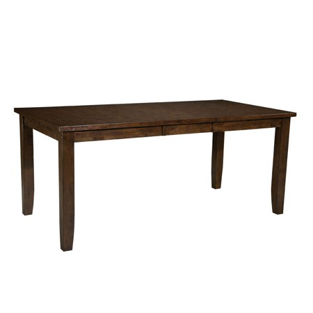 Furniture Abaco Counter Height Dining Table With Leaf In Tobacco Brown