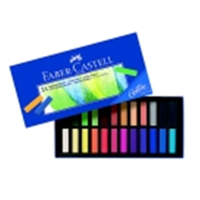 Faber-Castell 0.31 x 1.25 in. Creative Studio Non-Toxic Square Soft Pastel Set 24
