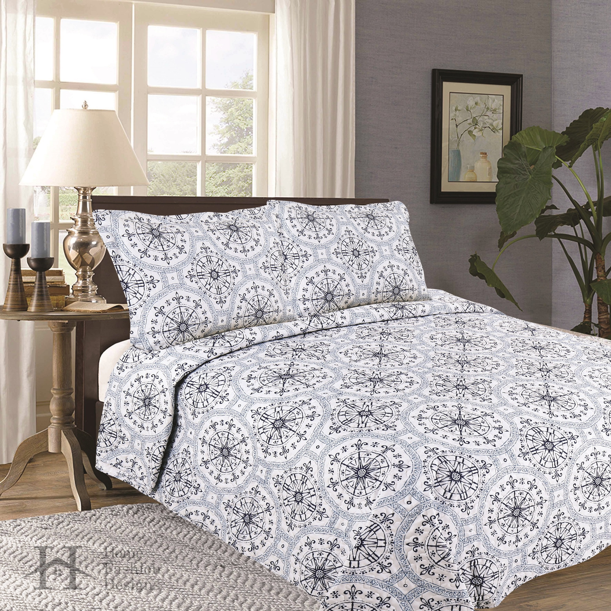 Home Fashion Design Maribel Quilt Set