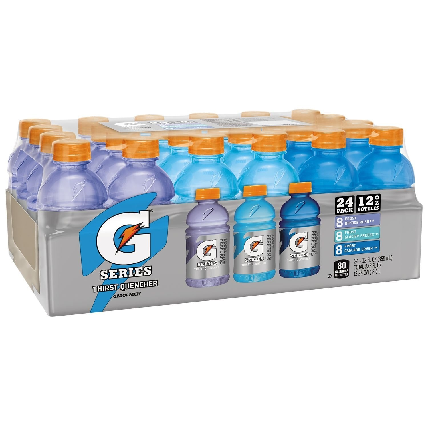 Gatorade Thirst Quencher Sports Drink, Frost Variety Pack, 12 Fl Oz, 24 Count