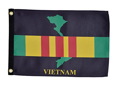 In the Breeze Vietnam Veteran Lustre Grommeted Boat Flag, 12 by 18-Inch by In The Breeze