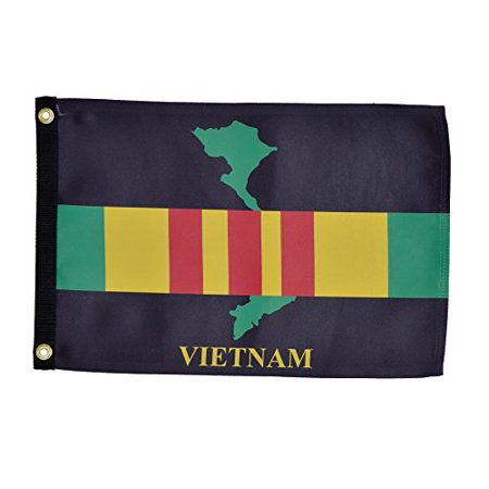 In the Breeze Vietnam Veteran Lustre Grommeted Boat Flag, 12 by 18-Inch - Veterans Day Flag