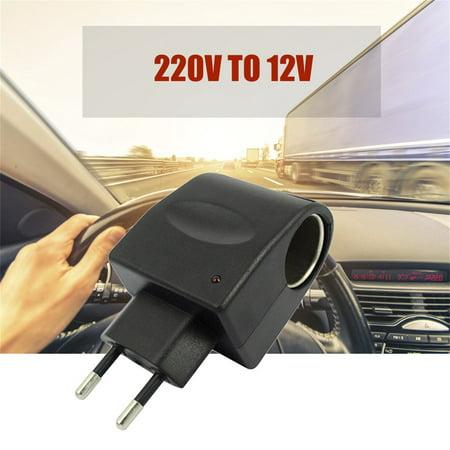 High Performance220V AC to 12V DC Car Auto Power Converter Adapter Cigarette Lighter Socket - image 2 of 5