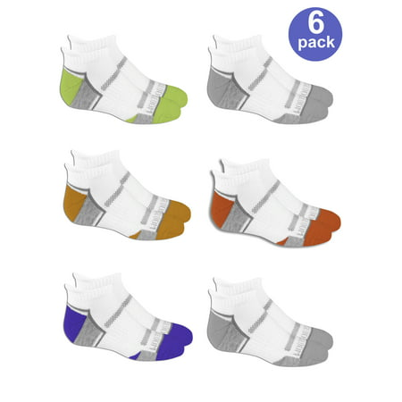 - Fruit of the Loom Everyday Active Cushioned Low Cut Tab Socks with Arch Support, 6 Pairs (Big Boys)