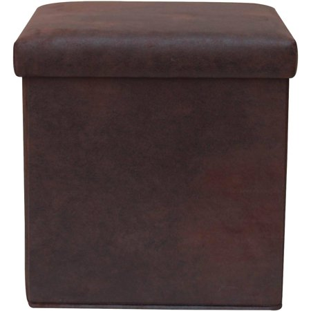 Mainstays Collapsible Storage Ottoman With Removable Bin