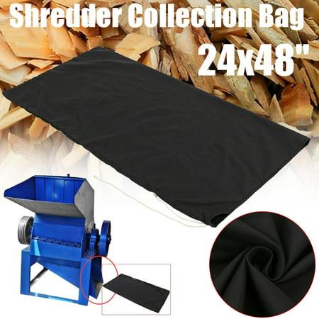 Mrosaa Adjustable Wood Leaf Chipper Mulcher Shredder Collection Bag
