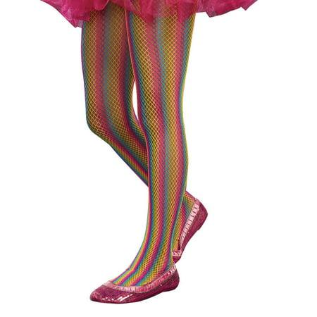 Sugar Sugar Rainbow Fishnet Tights Girl's Costume Accessory