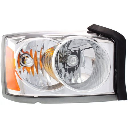 NEW HEADLAMP ASSEMBLY WITH CHROME BEZEL RIGHT FITS 2005 DODGE DAKOTA 55077606AB