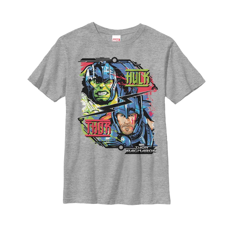 Marvel Boys' Thor: Ragnarok Hulk Cartoon T-Shirt