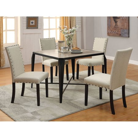 Acme Furniture Old Lake II 5 Piece Rectangular Dining Table (Acme Furniture Set Table)
