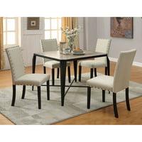 Acme Furniture Old Lake II 5 Piece Rectangular Dining Table Set
