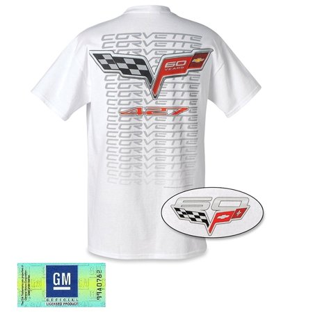 Men's Corvette 60th Anniversary 427 Tee Shirt (White, XX-Large)