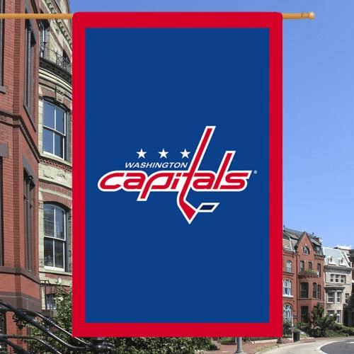 Washington Capitals 28'' x 44'' Double-Sided Team Logo Appliqu- Flag - No Size