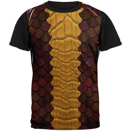 Halloween Red Dragon Costume All Over Mens Black Back T Shirt](Take Back Halloween)