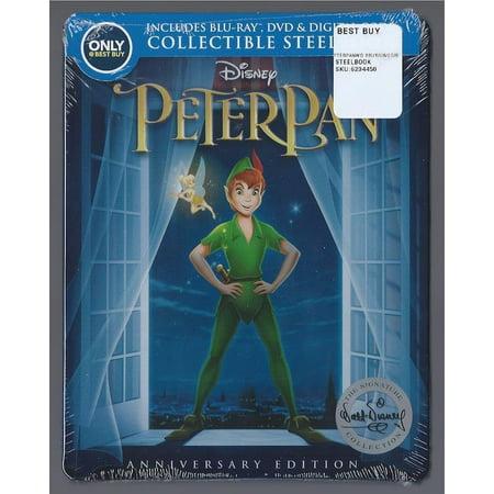Disney PETER PAN Blu-Ray+DVD+Digital Best Buy Exclusive Limited STEELBOOK Sealed