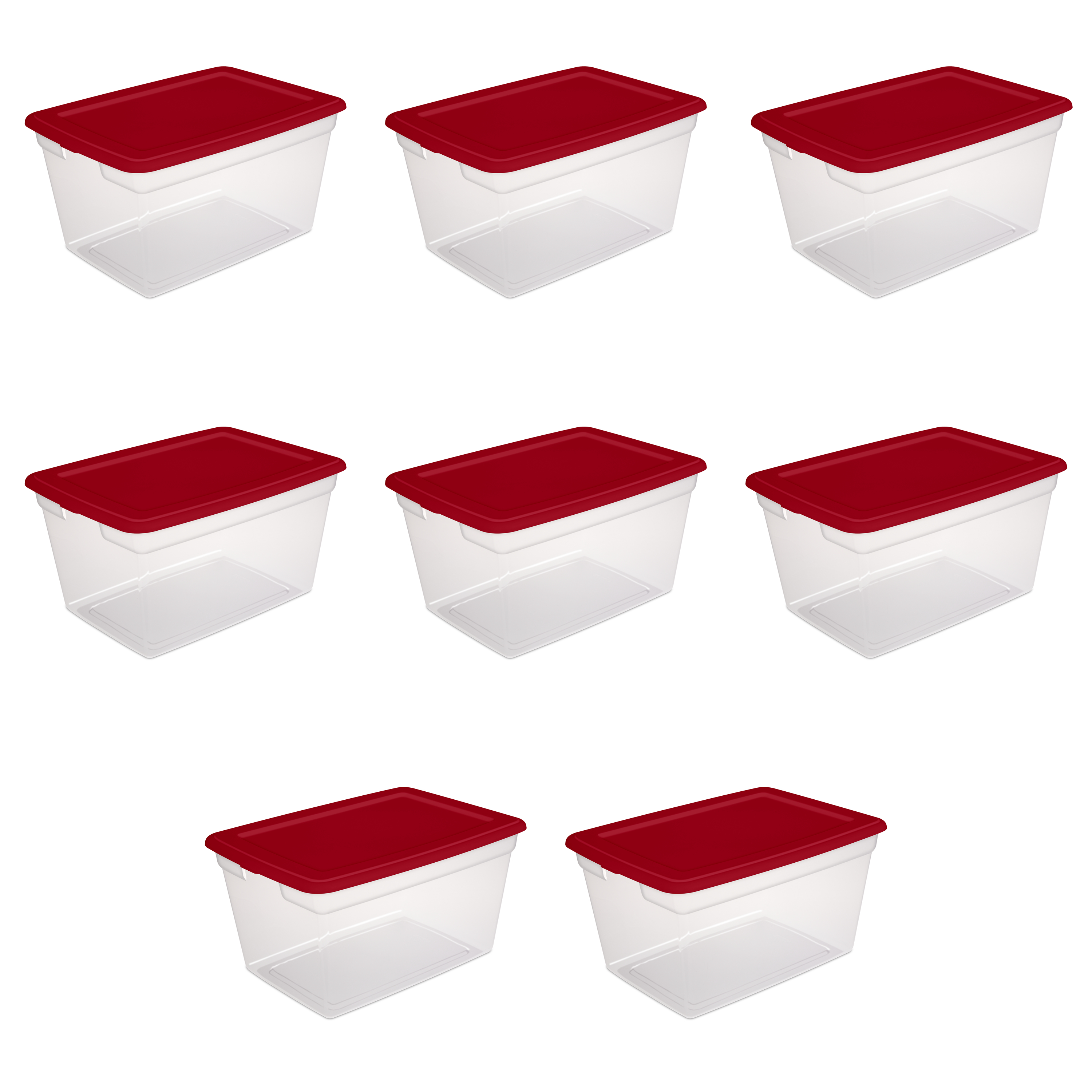 Sterilite, 58 Qt./55 L Storage Box, Case of 8