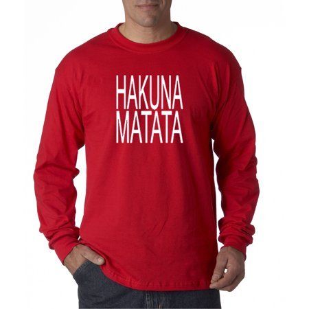 435 - Unisex Long-Sleeve T-Shirt Hakuna Matata The Lion King Simba Timon - Timon And Pumbaa Halloween Costumes For Adults
