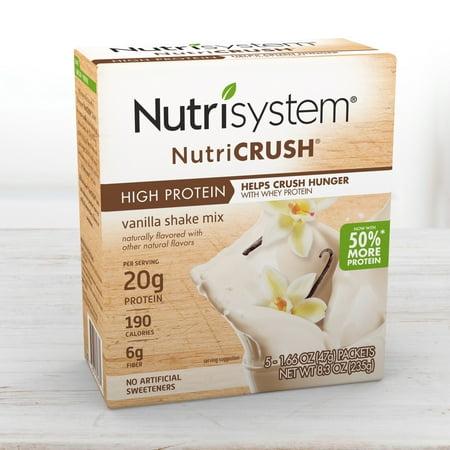 - Nutrisystem NutriCrush Vanilla Shake Powder, 1.66 Oz, 5CT