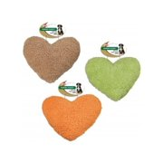 Ethical Products Spot Vermont Fleece 4156 Plush Squeaker Heart Dog Toy, Natural, 8 Inch