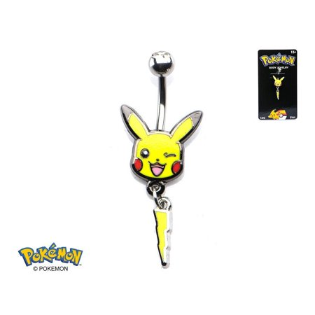 Pokemon Pikachu Navel Belly Button Ring Charmander Eevee - Officially Licensed - Charmander Suit