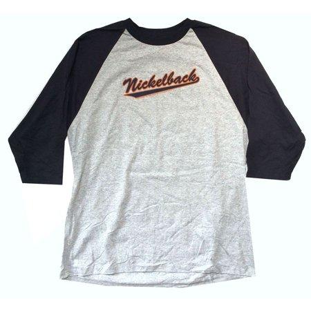 Nickelback 2007 Logo Grey Raglan Jersey Shirt (2X)