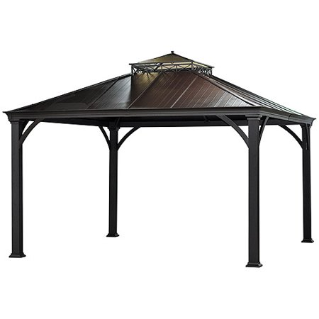 Sunjoy Mayfield Hardtop Gazebo Light Brown