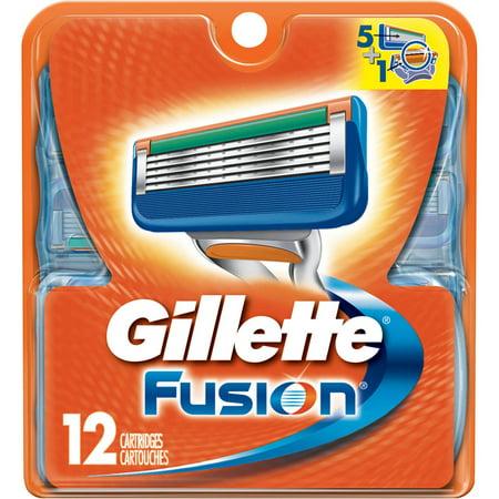 Gillette Fusion Razor Cartridge Refills, 12 count