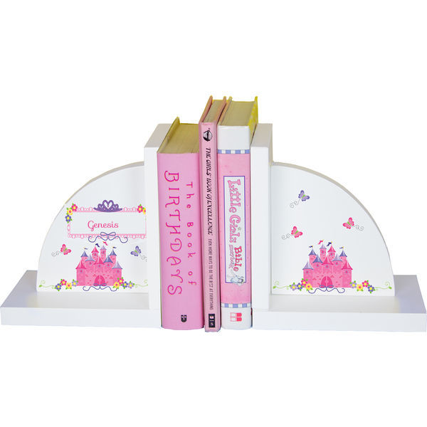 Personalized Princess Castle Childrens Bookends