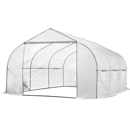11ft Portable Walk-In Garden Greenhouse Outdoor Green House for Fruits, Vegetables, Plants, and Flowers - 11' Long x 10' Wide x 7' High