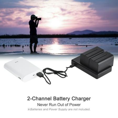 FB EN-EL15 Camera Battery 2-Channel Micro-USB Input for Nikon D850 D7500 D810 D750 D7200 D7100 D7000 D800 D610 - image 3 of 7