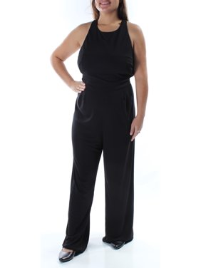 Ralph Lauren Womens Black Cut Out Sleeveless Halter Jumpsuit  Size: 18