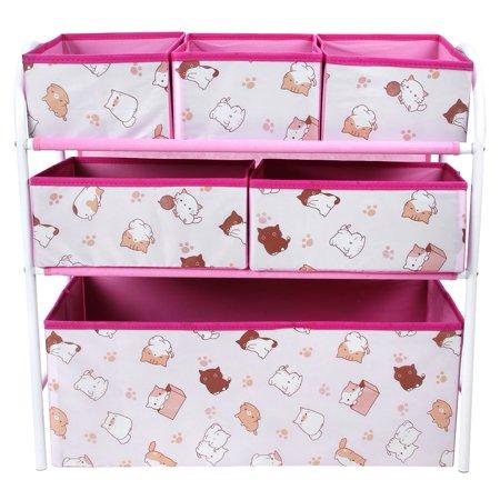 Fugacal Children Toy Storage Box Kids Storage Cabinet Strong