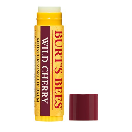 Burt's Bees 100% Natural Moisturizing Lip Balm, Wild Cherry with Beeswax & Fruit Extracts - 1 Tube