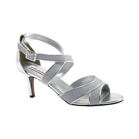 a6200b29a Dyeables - Women s Dyeables Amber Strappy Sandal Gray 9.5 M - Walmart.com