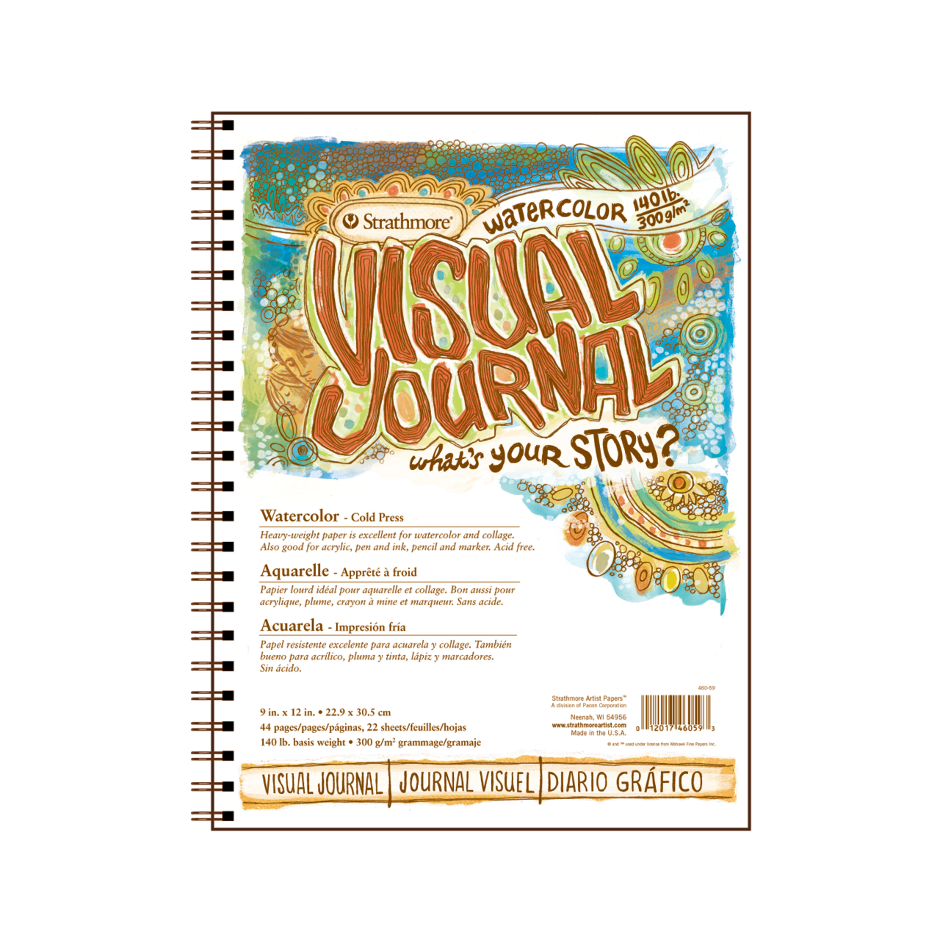 Strathmore Visual Journal, Cold-Press Watercolor, 9in x 12in, 140 lb.
