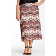 Bobeau NEW Pink Women's Size 3X Plus Flip Flop Tribal A-Line Skirt $48