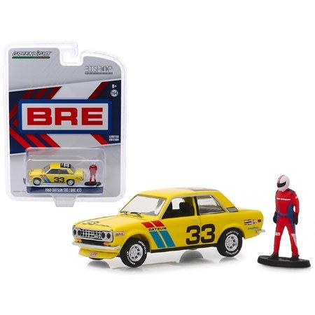 1969 Datsun 510 #33 BRE with Race Car Driver Figure