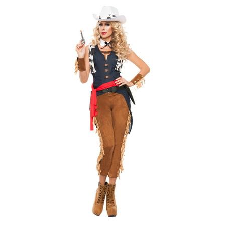 Women S Wild Wild West Cowgirl Costume Walmart Com