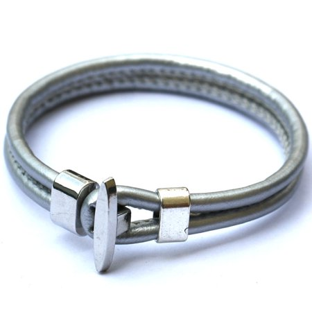 New Unisex Real Leather Surfer Style Bracelets Great Christmas Gifts For Men, Women, Teens, Boys, Girls Wristband 100 , Size: Fit 5 inches-10 inches Wristband , Color: Black](Bracelets For Boys)