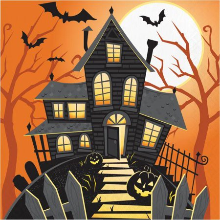 Creative Converting Halloween Haunted House Napkins, 16 ct](Halloween Cs 1.6)