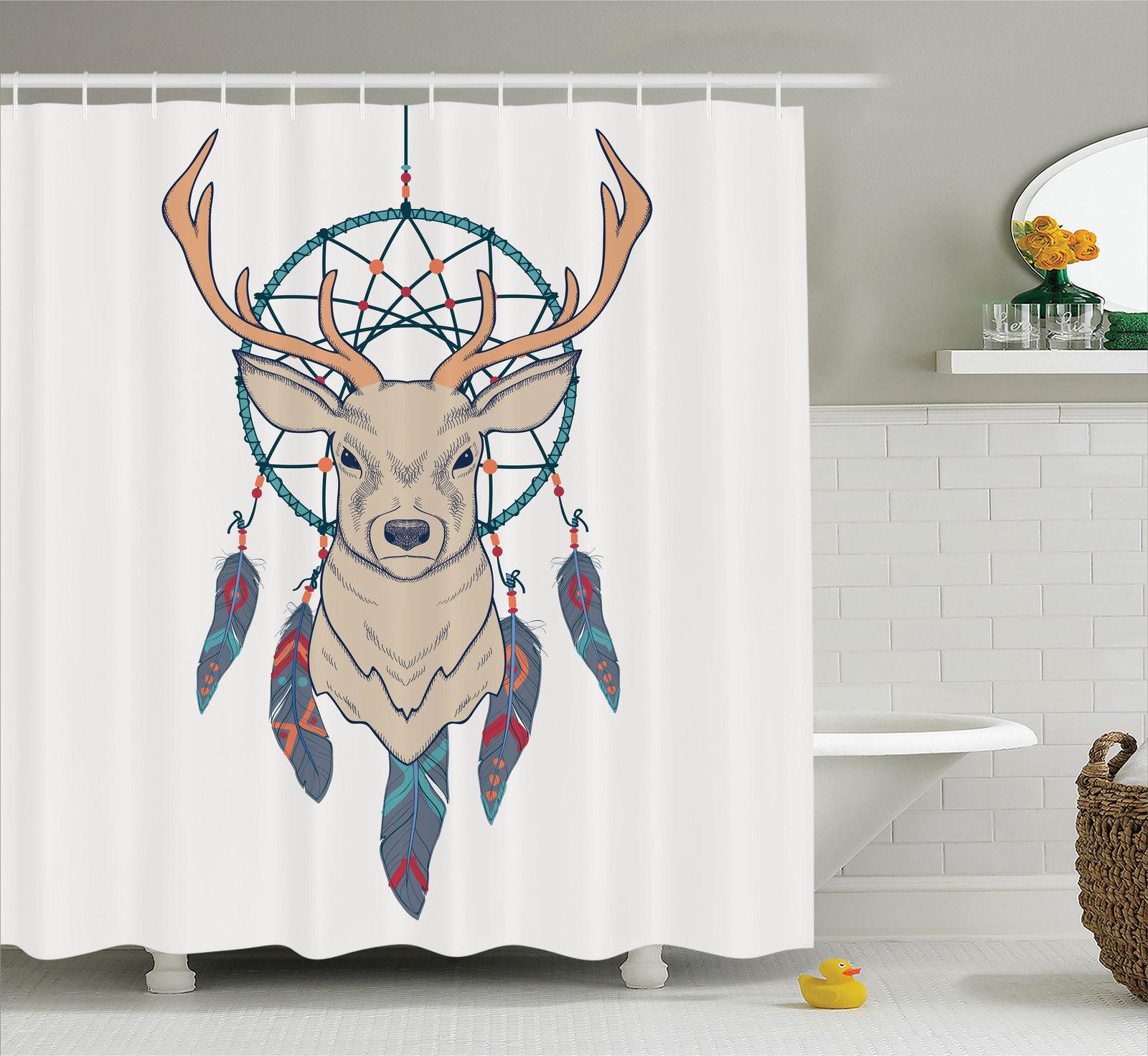 Deer Decor  Roe Deer With Native American Indian Dreamcat...