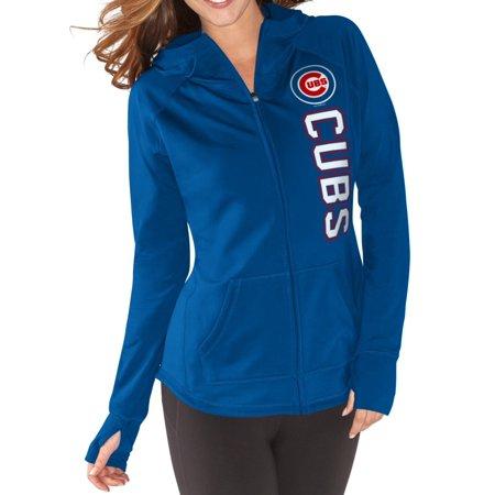 Chicago Cubs Womens Mlb G Iii  Regenerate  Full Zip Hooded Sweatshirt