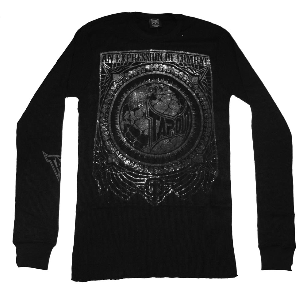 Expression of Combat TapouT Foil Embossed Thermal Long Sleeve T-Shirt - Small