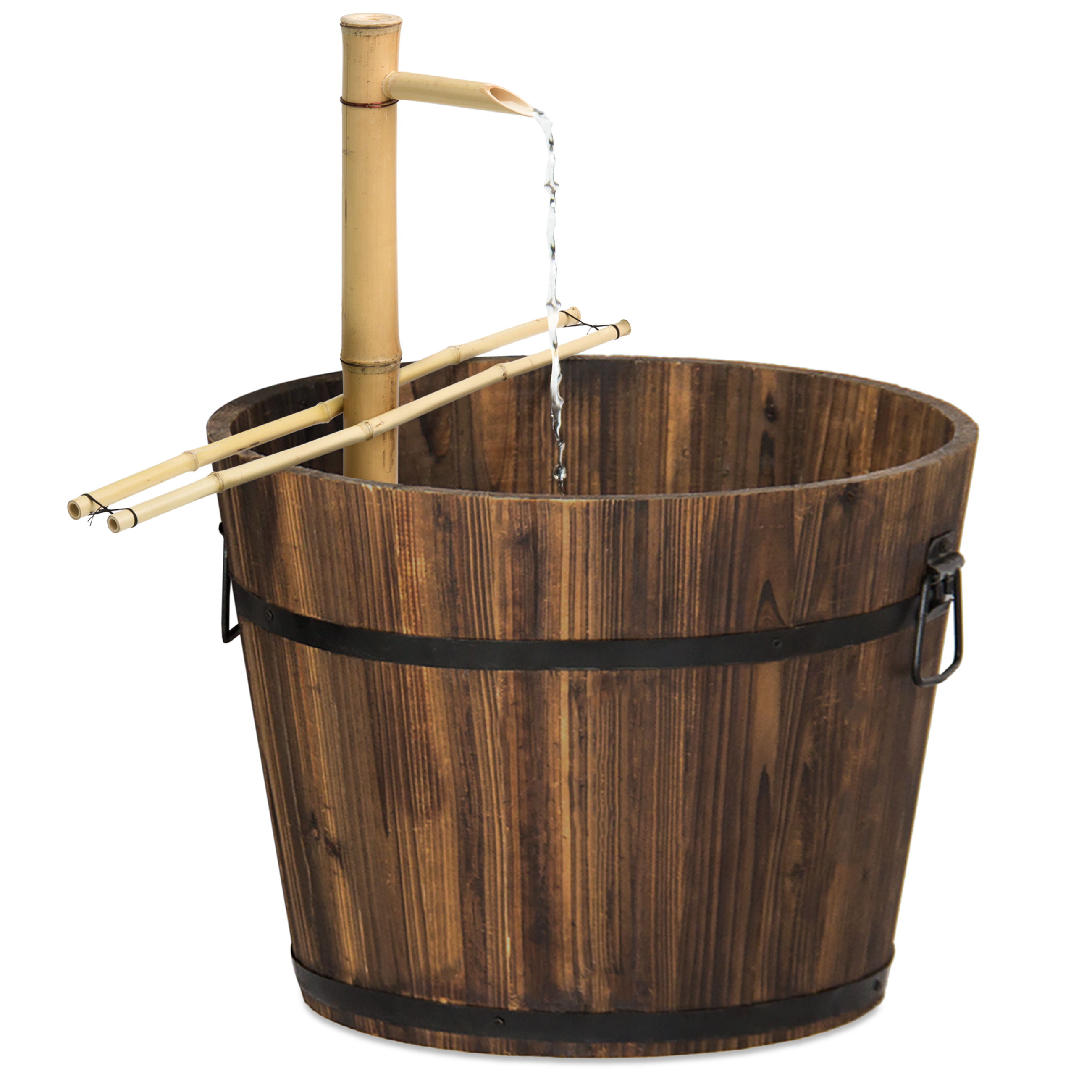 Best Choice Products Outdoor Bamboo Water Fountain Garden Decor w/ Pump