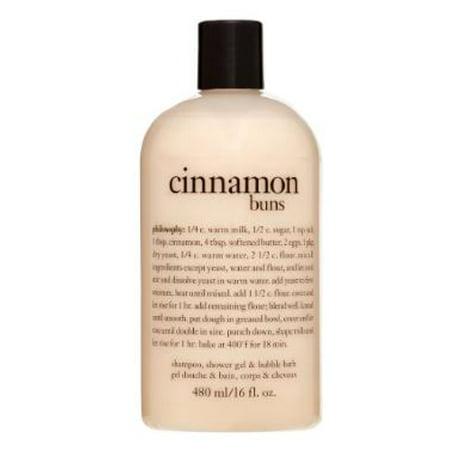 Philosophy Cinnamon Buns Shampoo Shower Gel Bubble Bath 16 Oz