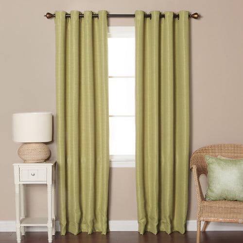 Best Home Fashion, Inc. Shimmery Basketweave Solid Blackout Grommet Curtain Panels (Set of 2)