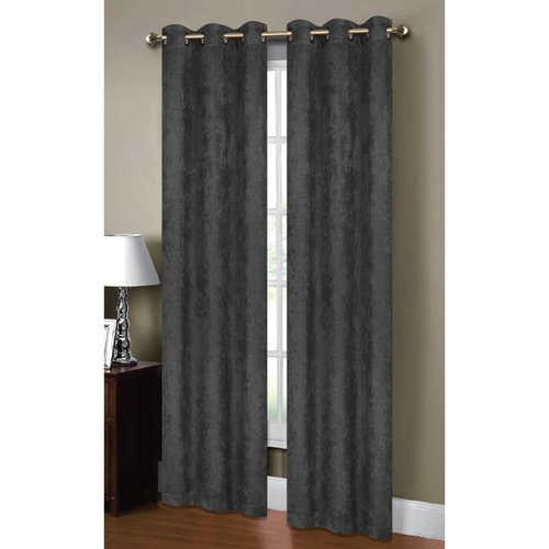 "Calypso Embossed Textured Room Darkening 76"" x 84"" Grommet Curtain Panel Pair"