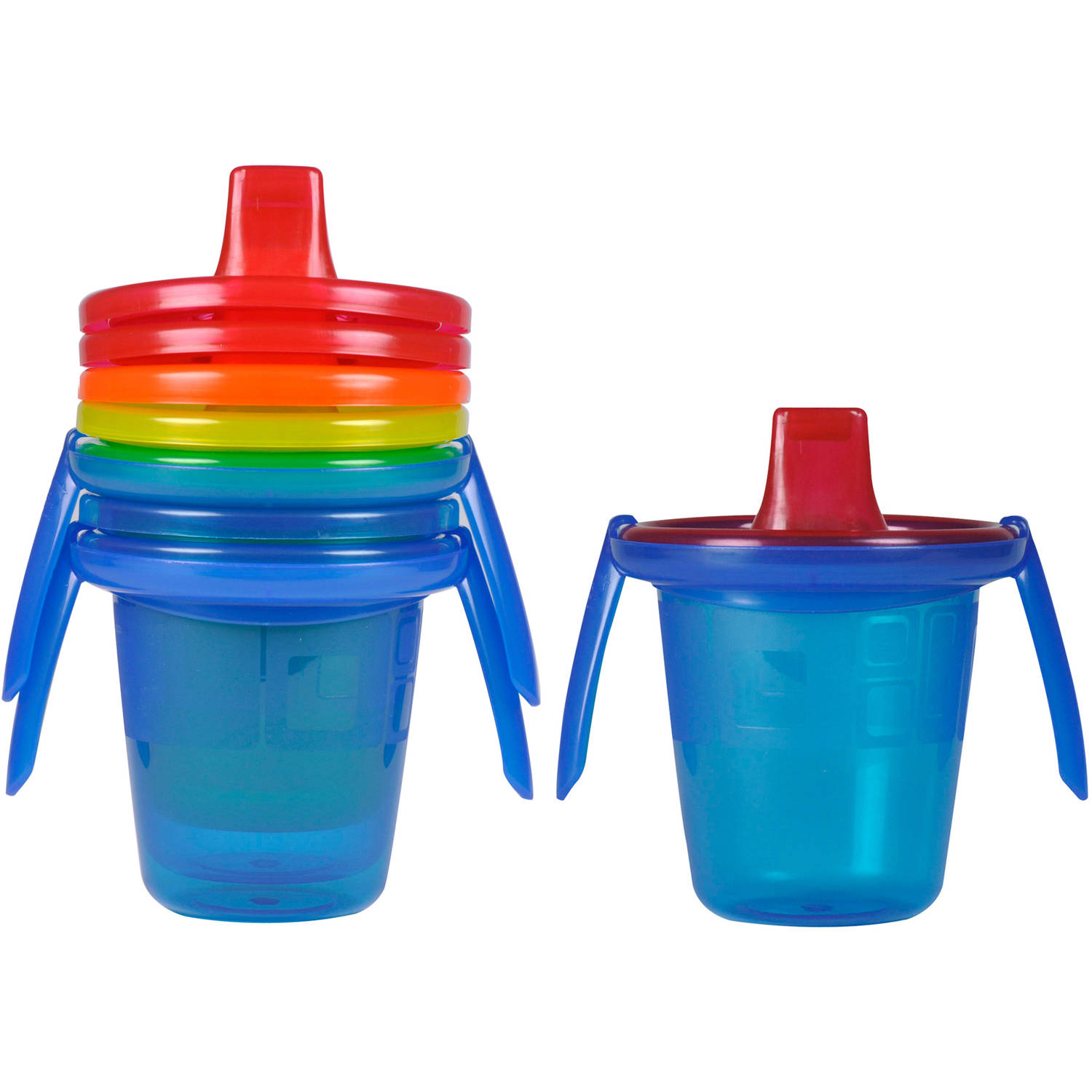The First Years Take & Toss Spill-proof Trainer Cups with Removable Handles, BPA-Free - 7oz, 4 pack