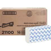 Genuine Joe GJO21100 Multifold Towels, 250 Sheets per Pack, 16 Pack